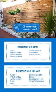¡Decoración al aire libre! Aprende cómo construir un deck de muro en el siguiente #Hum #Sodimac #Homecenter.