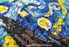 arte-com-papel-Quilled-Starry-Night