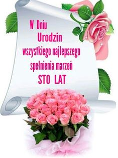 Dla każdego: URODZINY Happy New, Happy Birthday, Rose, Tableware, Motto, Poems, Humor, Polish, Birthday