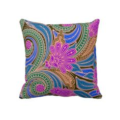 Paisley decorative pillow by ARTUAL! #pillows #paisley