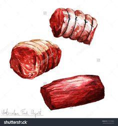 水彩食品剪纸艺术——肉-食品及饮料,物体-海洛创意(HelloRF)-Shutterstock中国独家合作伙伴-正版素材在线交易平台-站酷旗下品牌