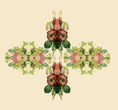 I love an ornate bit of pattern and this mirror imaged floral is just gorgeous.