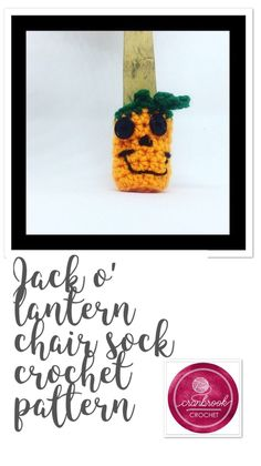 Jack O' Lantern Chair Sock Crochet Pattern Hand Crochet, Free Crochet, Chair Socks, Selling Crochet, Floor Protectors For Chairs, Fabric Dining Chairs, Crochet Kitchen, Crochet Patterns, Crochet Ideas