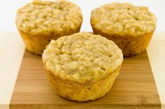 Banana Muffins  Ingredients:      1 banana     ¾ cup egg whites     ½ cup low-fat plain Greek yogurt     ¾ cup oats     2 scoops vanilla whey protein powder     ¼ cup sugar substitute     1 tsp baking powder     1 tsp baking soda     4 tbsp low-fat Greek yogurt