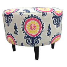 Calandra Ottoman  Great pop of color for under 100!