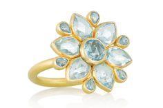 anillos piedras flor 3 petalos - Buscar con Google