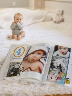 Capture the memories of baby's first year with a month by month baby photo book. | Shutterfly