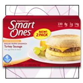 Weight Watchers Smart Ones Smart Beginnings English Muffin Sandwich with Turkey Sausage - The Best Low-Calorie, Low-Fat Microwave Meals   Hungry Girl