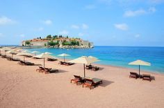 Sveti stefan island beach in montenegro - best beaches in europe Agriculture, Farming, Montenegro, Beach Pictures, Travel Pictures, Best Beaches In Europe, Photos Bff, Photo Summer, Tropical Beaches