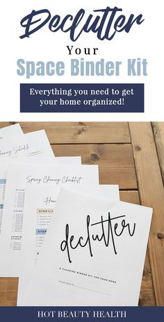 Declutter Your Space Binder Kit Printables - Organize Your Home! Spring Cleaning Checklist, Getting Rid Of Clutter, Clutter Free Home, Declutter Your Life, Useful Life Hacks, Organizing Your Home, Diy Woodworking, Clean House, Your Space