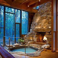 #hottub and #fireplace #winterishere - @Matt Valk Chuah Perfectioner- #webstagram