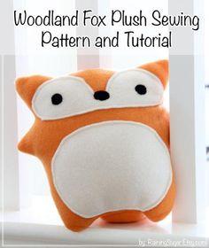 Woodland Fox Plush Toy Pattern | Craftsy