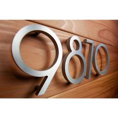10 Cool House Numbers Ideas House Numbers House Numbers Diy House Number Sign