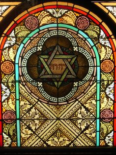 Just beautiful: Stained Glass Museum, Chicago IL: The window was removed from a Jewish synagogue demolished in the early Stained Glass Church, Stained Glass Angel, Stained Glass Windows, Cultura Judaica, Arte Judaica, Doodle Inspiration, Jewish Art, Religious Art, Leaded Glass