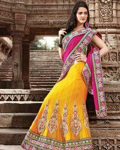 Lengha sari with patched motifs   #IndianWear #wedding #colourpop #lehenga