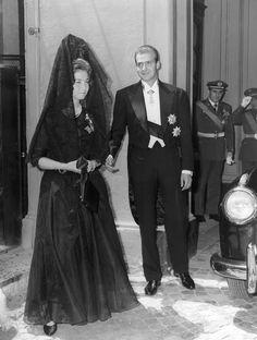 Then Princess Sofía & Prince Juan Carlos Greek Royalty, Spanish Royalty, Bourbon, Court Dresses, Spanish Royal Family, Royal Queen, Don Juan, Princess Sofia, Queen Victoria