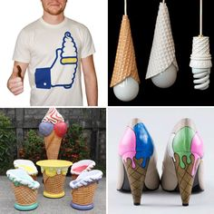 Ice cream decor and apparel, of course. ;)