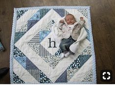 ideas for baby patchwork quilts Colchas Quilting, Quilting Projects, Quilting Designs, Sewing Projects, Quilting Patterns, Quilting Ideas, Quilt Design, Sewing Crafts, Quilt Baby