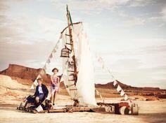 #radeau #imaginaire #désert #ocre #fashion #mode #liberté #Catimini Printemps été 2014 Shooting Catimini
