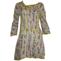 Marni Silk Floral Tunic/Mini Dress (40 ITL) | From a collection of rare vintage day dresses at https://www.1stdibs.com/fashion/clothing/day-dresses/
