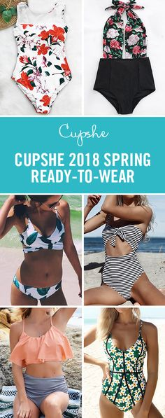 CUPSHE 2018 SPRING READY-TO-WEAR! Get your swimsuit ready for the beautiful beach~ Shop the hottest items of this season at a surprising price! Free Shipping NOW! :)