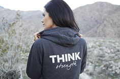 THINK Strength www.thinkallways.com $49.00 Available in 3 colors #fitness #strength #fitness #health #positivethinking #hoodies #comfy