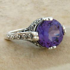 Alexandrite Antique Style Ring