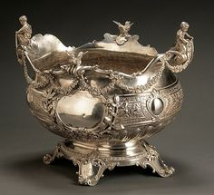 Victorian Silver Centerpiece Bowl Horace Woodward & Co Ltd.,