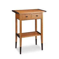 Tom Dumke of Thomas William Furniture creates this Cherry Two Drawer Hall Table. It has wenge accents.The work is hand made with the finest quality of craftsmanship. Display your collectibles in this