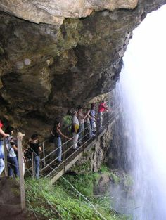 Reichenbach Falls, where Holmes originally died with Moriarty. ACD brought him back in the Empty Room adventure.