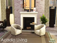 Sims 4 CC's - The Best: Hampton Hideaway Living Room Set by ...