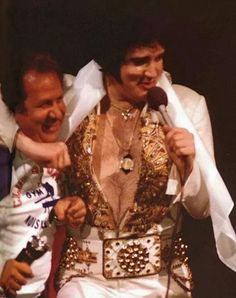 {*Elvis & Joe the last concert - June 26,1977 :( Elvis would be gone from us in 6wks from this Photo, RIP Forever Elvis*}