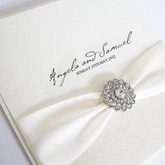 'French Kiss' Handmade Wedding Invitation