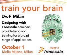 1/10/14 Design With Freescale a Milano. Non perdere l'occasione per partecipare ad uno dei più completi eventi di training nella comunità embedded. Per registrarsi: https://getregisterednow.com/FS/Register/Register.asp?e=DwFMBSMilan2014&r=IE