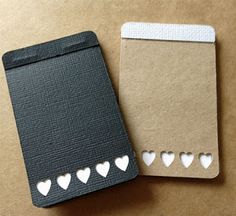 Cute Little Credit Card Size note books.  Free Silhouette Studio File by http://www.GetSilvered.com