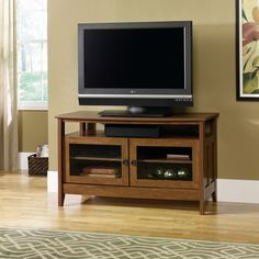"""Sauder August Hill Panel TV Stand for TVs up to 47"""", Oiled Oak Finish $159"""