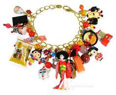 Japanese Cartoon Characters Charm bracelet