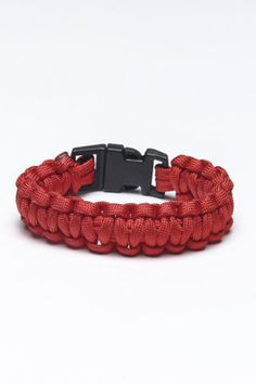 Paracord bracelets are awesome! I made a few of them at camp over the summer. They have practically 1,000 uses: fishing, flossing, starting fires, stringing up an impromptu shelter...the ultimate survival aid.