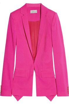 Preen Hutchinson fuchsia pink cutout wool-blend blazer NET-A-PORTER.COM