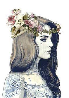 Hayden's drawing of Lana Del Ray.