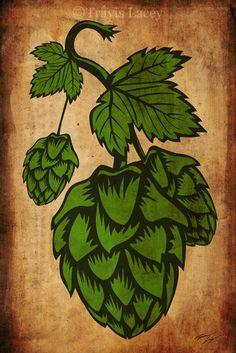 Humulus lupulus - draw of female flowers Beer Brewing, Home Brewing, Hop Tattoo, Hops Plant, Brew Shop, Beer Hops, Beer Art, Brew Pub, Tap Room