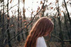 Redhead  Nature portrait Forest Fairytale shoot