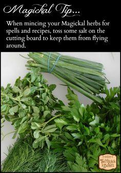 The Magick Kitchen - Magickal Tips Mincing Herbs