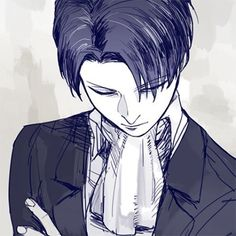 ... I will admit it. Levi looks *cough* hot *cough* in his picture.