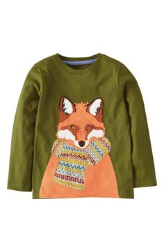 Mini Boden 'Winter Fun' Long Sleeve T-Shirt (Toddler Boys, Little Boys & Big Boys) available at #Nordstrom