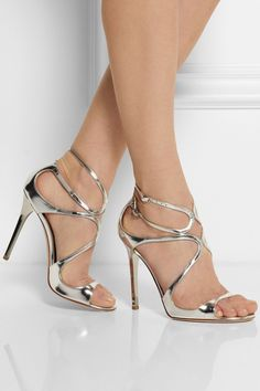 4e87ec2a4aee http   www.net-a-porter.com product 420403 Jimmy Choo lance-metallic -leather-sandals · Silver HeelsMetallic ...