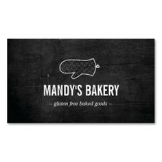 Rustic Oven Mitt Logo and Customizable Business Card Template for Bakery, Homemade Baked Goods, Pastry Chefs, Catering, etc.