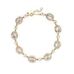 The perfect holiday dressing statement necklace - the crystal mix necklace from @J.Crew