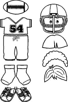 MakingFriends Football Friends Print these jersey, pants and helmet outlines then color in to match your team. Turkey Football, Football Crafts, Football Tailgate, Football Themes, Football Art, Football Players, Football Season, Football Outline, Football Bulletin Boards