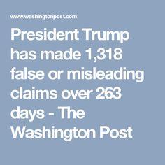 President Trump has made 1,318 false or misleading claims over 263 days - The Washington Post